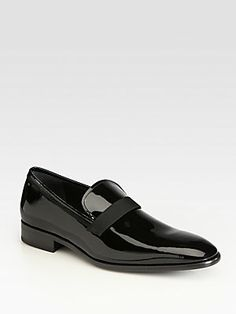 """Salvatore Ferragamo Antoane Black Patent Leather Slip-Ons, *You know for the occasional wedding or dinner with the President."""""""
