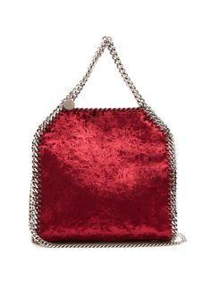 d78d6672fd1c STELLA MCCARTNEY Falabella Mini Crushed-Velvet Cross-Body Bag.   stellamccartney  bags  shoulder bags  hand bags  velvet  leather  lining