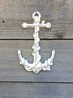 Anchor Decor Nautical Decor Anchor Wall Art by honeywoodhome