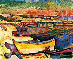 Geel Zeekust 1906 - Olieverfschilderijen