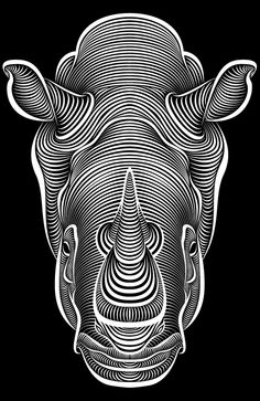 Line-Art Illustrations by Patrick Seymour  I like this piece because you can see all the lines and you can see that it must of took a long time.         Cool it is running to me