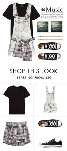 """""""Music"""" by fleu-fou ❤ liked on Polyvore featuring Billabong, H&M, Converse, Polaroid, Aime, rockerchic and rockerstyle"""