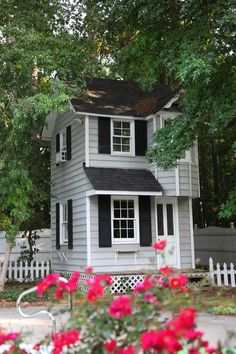 Nice Two Story Playhouse Design