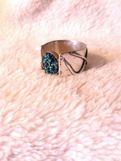 Check out this item in my Etsy shop https://www.etsy.com/listing/236843535/rainbow-druzzy-ring