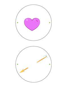 Heart & arrow thaumatrope printable.