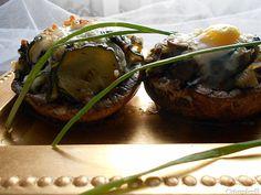 Coisas simples são a receita ...: Cogumelos recheados com legumes