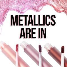 THEY'RE HEEERE! ✨✨ Shop #MetallicVelvetines now on limecrime.com/velvetines. #limecrime