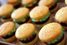burger cupcakes  :-)
