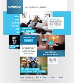 Outreach AV Responsive Website by Eric Snowden, via Behance