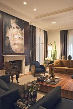 Marcelo Brito - Sao Paulo - Brazil - contemporary - living room - other metros - Marcelo Brito Design My Living Room, Living Room Interior, Home Interior, Home And Living, Living Spaces, Design Salon, Contemporary Decor, Interior Design Inspiration, Design Ideas