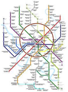 Moscow Metro map _____________________________ Bildgestalter http://www.bildgestalter.net