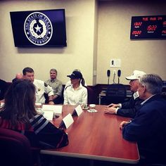 Thank you @GovAbbott @fema @uscoastguard @RedCross & local officials for the briefing today on #HurricaneHarvey. We are with you #Texas!