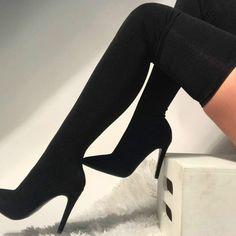 best service ac0b5 d9615 Chaussures Femme Été, Chaussure Botte, Cuissardes, Bottes Sexy,