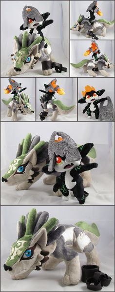 Wolf Link and Midna by MagnaStorm on deviantART