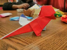 #origami #dinosaurs #crafts #papercrafts #art #kids #activities Find more free programs like this http://www.queenslibrary.org/events/