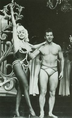 Jayne Mansfield and Mickey Hargitay-from their show House of Love performed at the Dunes Hotel, Las Vegas, 1961