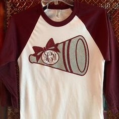 megaphone cheer shirt - Google Search                                                                                                                                                                                 More