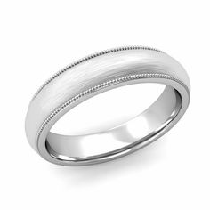 With milgrain detail this comfort fit wedding band is a lovely choice for those not wanting a gem set ring! Celtic Wedding Bands, Wedding Bands For Him, Unique Mens Rings, Rings For Men, Carnival Wedding, Beautiful Wedding Rings, Engagement Rings, Groom, Xmas