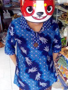 Blues biru Batik Katun Motif merak Rp60.000