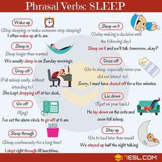 Phrasal Verbs: Sleep