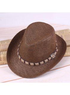 9cbb27fa582729 VERYVOGA Men's Glamourous Salty Straw Cowboy Hats/Kentucky Derby Hats