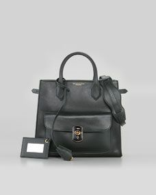 Balenciaga Padlock All Time Tote Bag, Vert Fonce $1,885