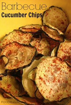 Barbecue Cucumber Chips | FOODIEaholic.com #recipe #cooking #snack #healthy