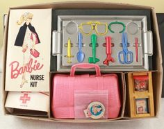 RARE Vintage Barbie Pressman Nurse Kit