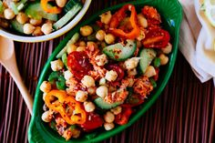 Spicy Salmon & Chickpea Salad | 23 Healthy And Delicious Low-Carb Lunches