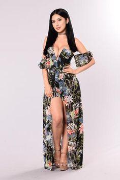 Flower Garden Magic Dress - Black