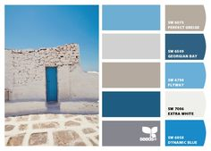 """From 7.31.12 """"Grecian hues"""" Design Seeds to paint colors from Chip It! by Sherwin-Williams"""