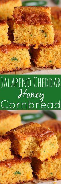 Cheddar Honey Cornbread Jalapeno Cheddar Honey Cornbread - This bread is SO good. It's loaded with amazing flavor.Jalapeno Cheddar Honey Cornbread - This bread is SO good. It's loaded with amazing flavor. Jalapeno Cheddar Cornbread, Honey Cornbread, Mexican Cornbread, Cornbread Recipes, Cheddar Cheese, I Love Food, Good Food, Yummy Food, Great Recipes