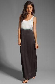 9823ebcaa PJK Patterson J Kinkaid Dip Dye Meeshee Long Black White Dress Maxi M NWT  $228 #PattersonJKincaid #Maxi #SummerBeach