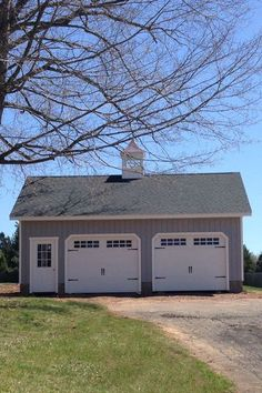 This 24' x 30' 2-car Elite garage features a full second-floor (like all of our Elite garages). Think of all the possibilities with all this space. Pole Barn Garage, Garage Shed, Garage Doors, Detached Garage, Garage Storage, Small Garage, Garage Workbench, 2 Car Garage Plans, Garage Ideas
