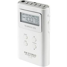 Sangean DT-120 WHITE Pocket AM/FM Digital Radios (White) R810-SNGDT120W