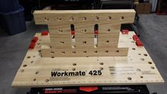 I wanted to expand on the first simple Bench Bull that I made out of so that I could more easily tackle my more complex clamping problems and this is wh. Woodworking Bench Vise, Garage Tools, Woodworking Workbench, Pallet Projects, Projects To Try, Leather Projects, Tool Storage, Wood Design, Wood Pallets