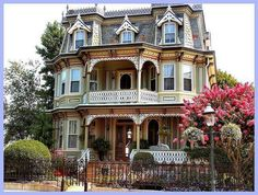 Victorian house, Cape May, New Jersey. Painted Ladies, Mansard Roof, Victorian Architecture, Beautiful Architecture, Beautiful Buildings, Beautiful Homes, House Architecture, Beautiful Images, Queen Anne