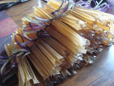 health fair door prizes and part of vendor favor .  honey sticks wedding favors
