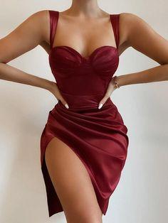 Tight Dresses, Ball Dresses, Evening Dresses, Short Dresses, Dresses For Party, Corset Dresses, Lingerie Dress, Sexy Party Dress, Satin Dresses