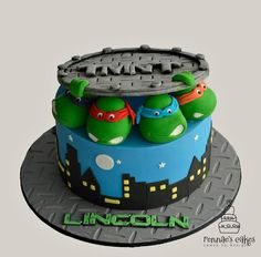 I had much love creating this cake for a special little 5 year old. It brought back memories when I was a little girl born in the 80's watching The Teenage Mutant Ninja Turtles with my older brother. Originally had a full fondant/tylo sewer lid,...