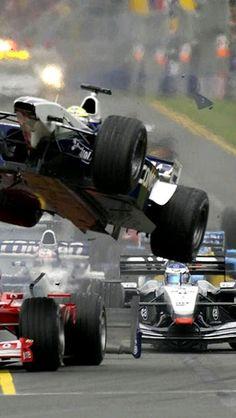 Ralf Schumacher after colliding with Rubens Barrichello in Melbourne F1 Austin, F1 Mexico, F1 Crash, F1 Wallpaper Hd, Wallpapers, Aryton Senna, Gp F1, Formula 1 Car, Monaco Grand Prix