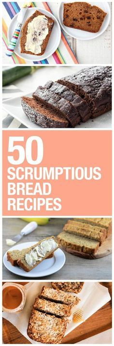 Healthy Dessert Ideas: Try some of these skinny bread recipes. - All Fitness Bread Recipes, Real Food Recipes, Baking Recipes, Snack Recipes, Drink Recipes, Breakfast Recipes, Healthy Baking, Healthy Desserts, Healthy Recipes