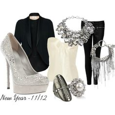 Cute holiday party outfit.  Screams Glitz!!  #dotsPintoWin