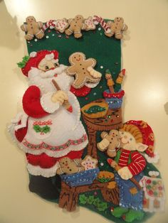 . Felt Christmas Stockings, Felt Stocking, Christmas Wood Crafts, Christmas Themes, Christmas Decorations, The Night Before Christmas, Very Merry Christmas, Christmas Holidays, Christmas Wreaths