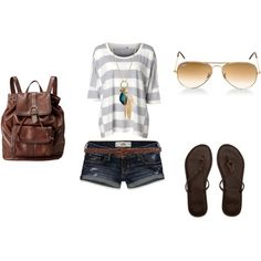 Summer, created by amy-holbrook.polyvore.com  Love the bagg & I'm so buying it.