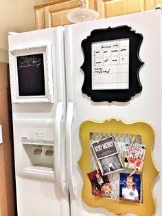 Pinterest Tuesday: DIY Fridge Frame Organization | Junk in the Trunk