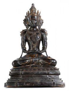 Buddha Amitayus - Höhe: 51 cm. - Myanmar, Königreich Arakan, 16. Jahrhundert. - [...]