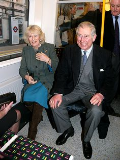 Prince Charles and Camilla take the tube! #BritHappens