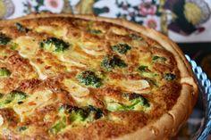 Quiche de brócolos e queijo de cabra