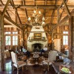 Party-Barn-Pool-House-as-featured-on-the-Wall-Street-Journal-Timber-Frame-Great-Room